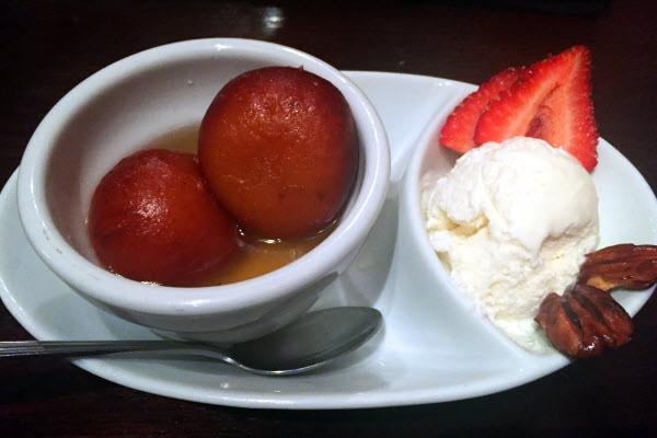 Gulab jamun with ice cream